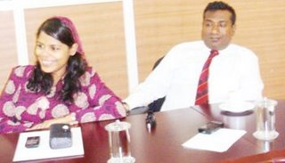 SAARC secretary General Dhiyana and JResorts owner Abdulla Jabir